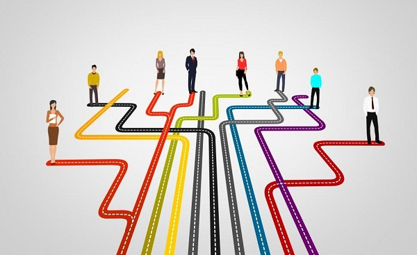 Image Represents the concept of choosing the career path towards civil service.